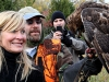 MC Swab holds Red-tailed hawk