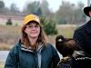 Oklahoma Falconer with Harris Hawk