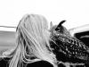 Great-Horned Owl kisses