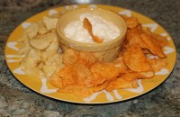 Plain Yogurt and Potato Chips