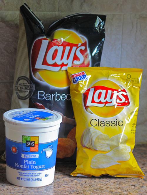 Plain Yogurt and Potato Chips